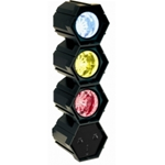 CENTRAL. LUCI 3FARETTI 2REG.LED